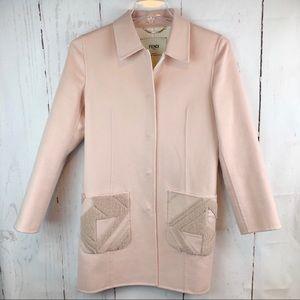 FENDI | Blush Pink Coat, Size S